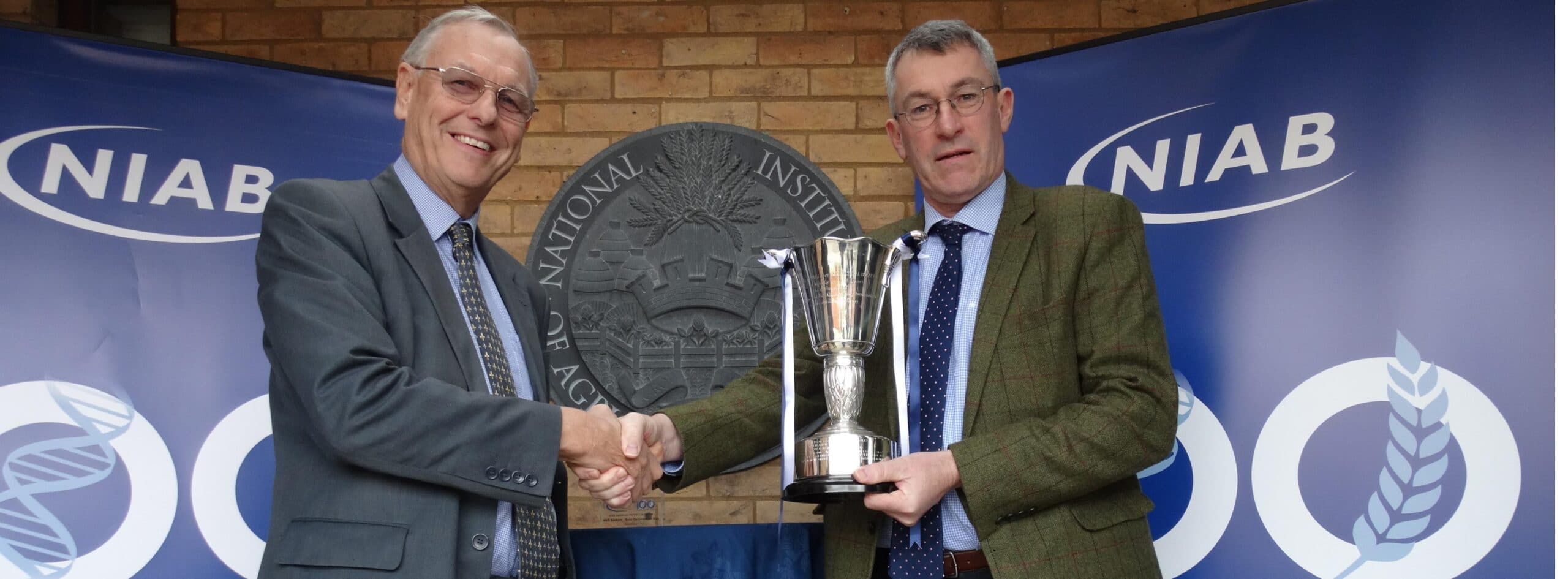 Robin Wood with NIAB Trophy